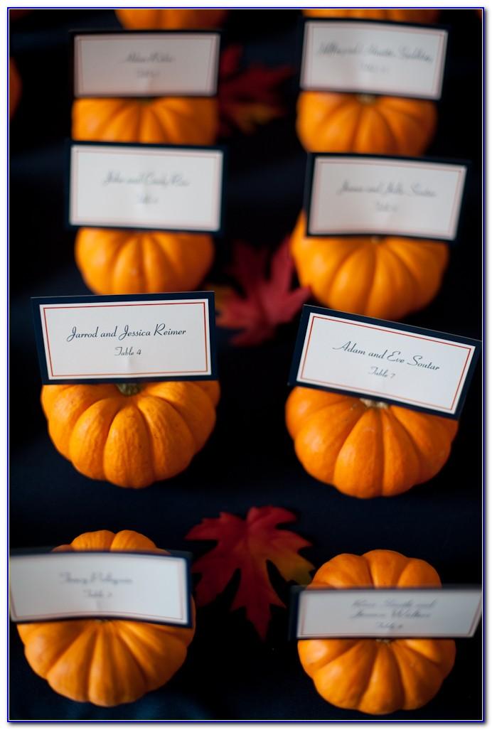 Autumn Wedding Place Card Holders