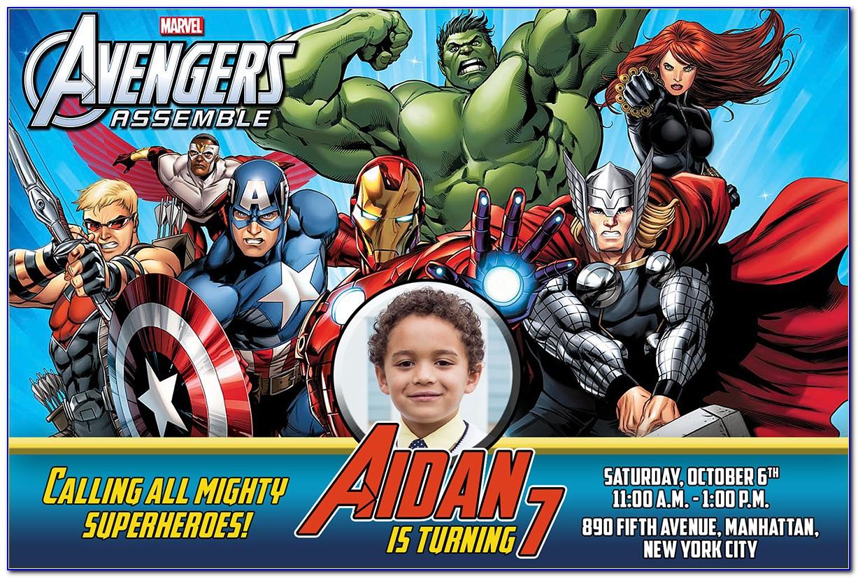 Avengers Invitation Card For Birthday