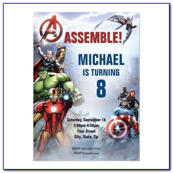 Avengers Invitation Card Free