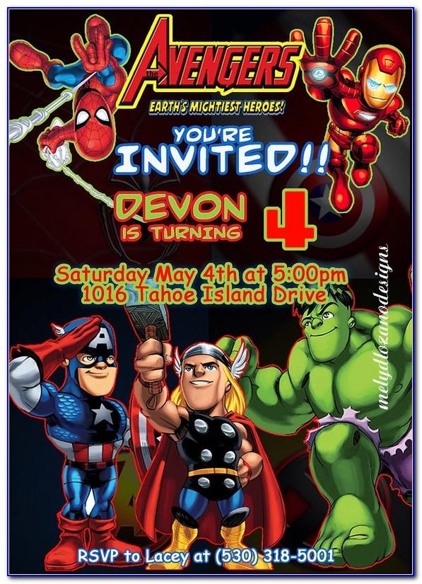 Avengers Invitation Card Maker