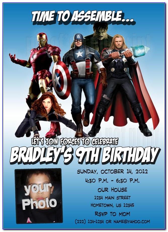 Avengers Invitation Card Online