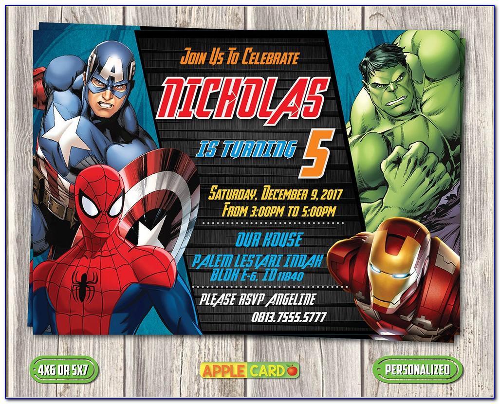 Avengers Invitation Card Template