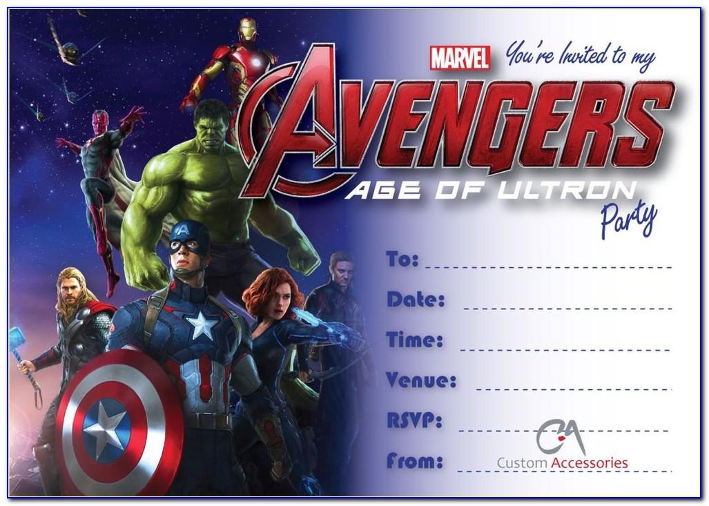 Avengers Invitation Cards