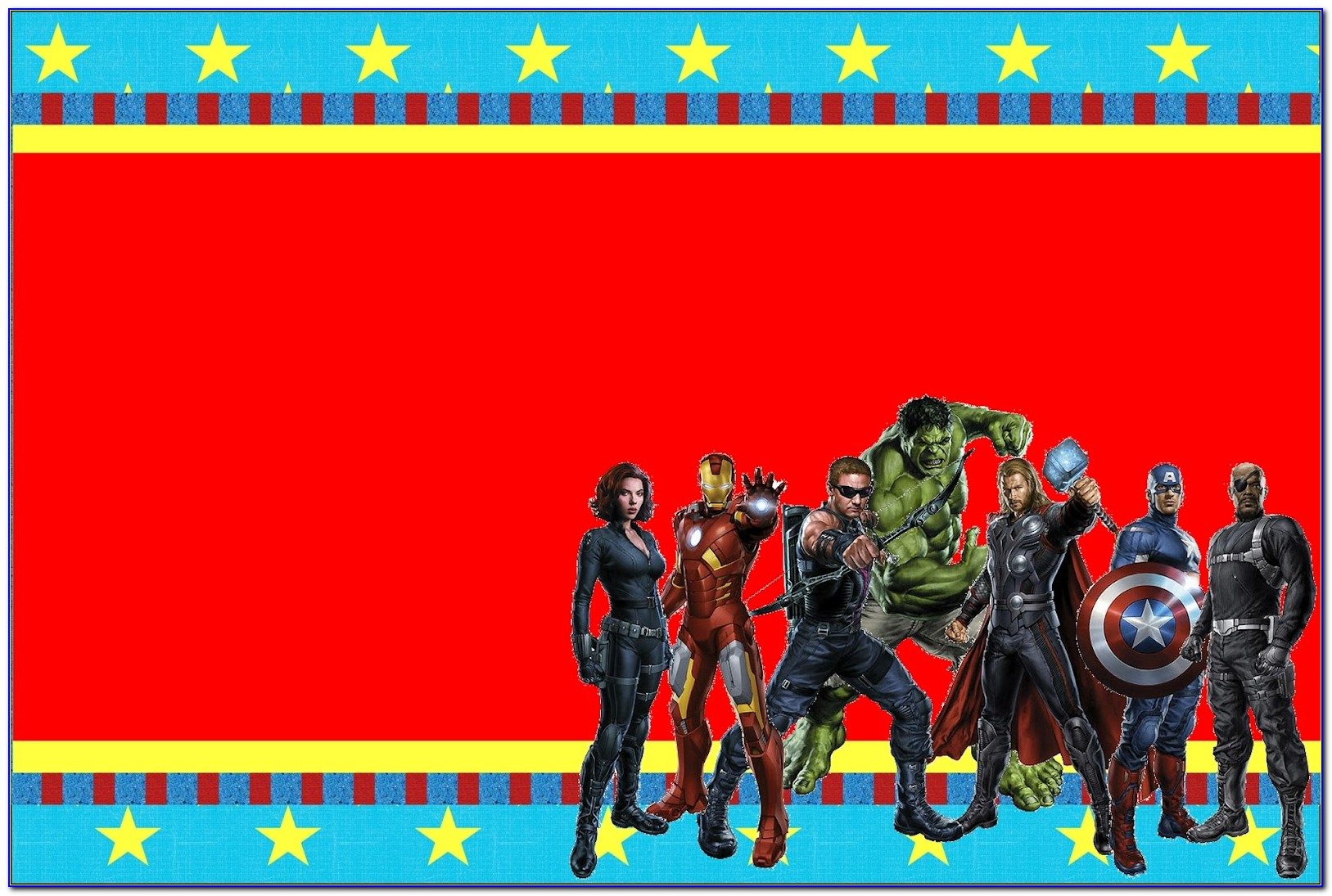Avengers Theme Invitation Card