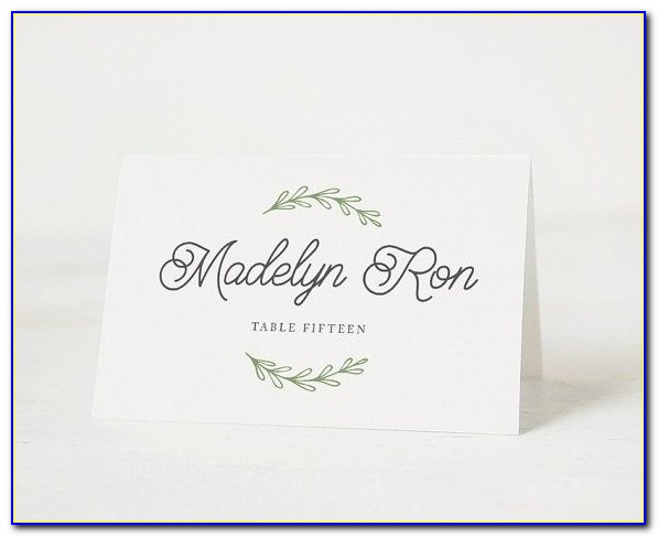 Avery Medium Embossed Tent Cards Template