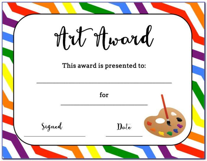Award Certificate Printable Free