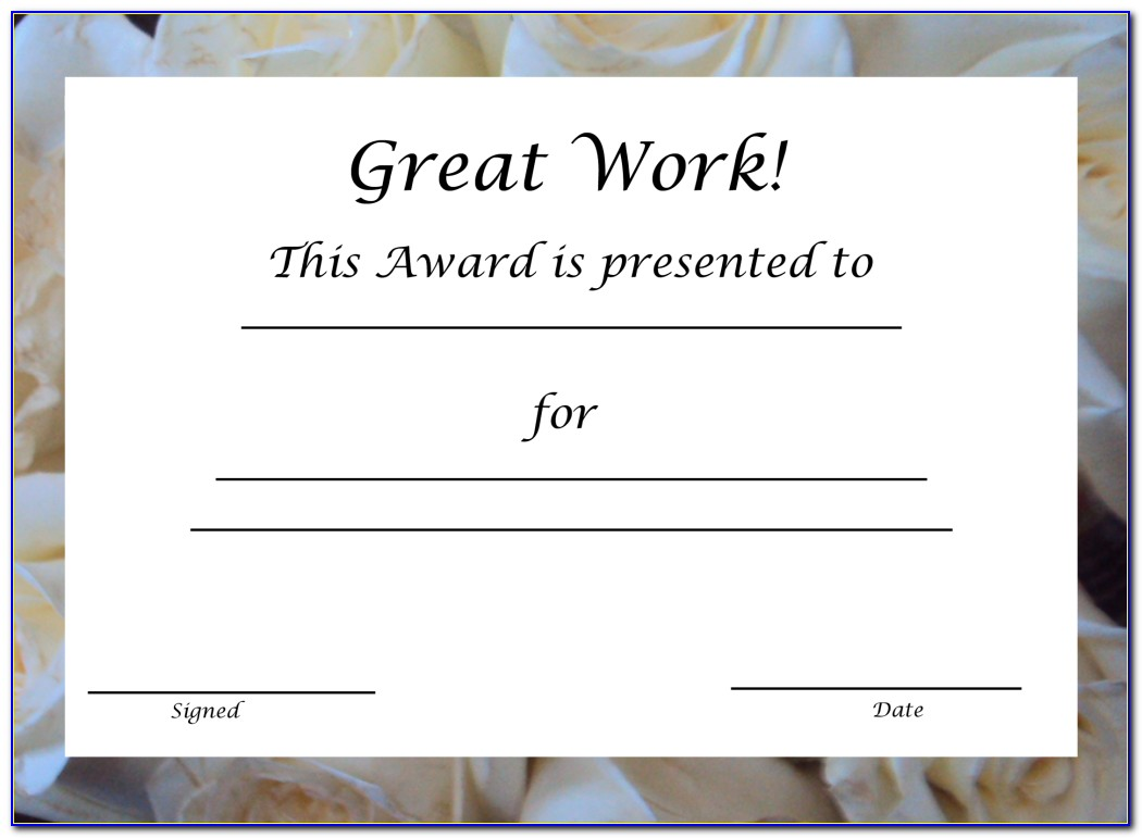 Award Certificate Printing Near Me
