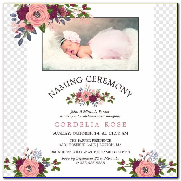 Baby Naming Ceremony Invitation Card In Marathi
