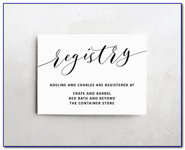 Baby Registry Card Template Free