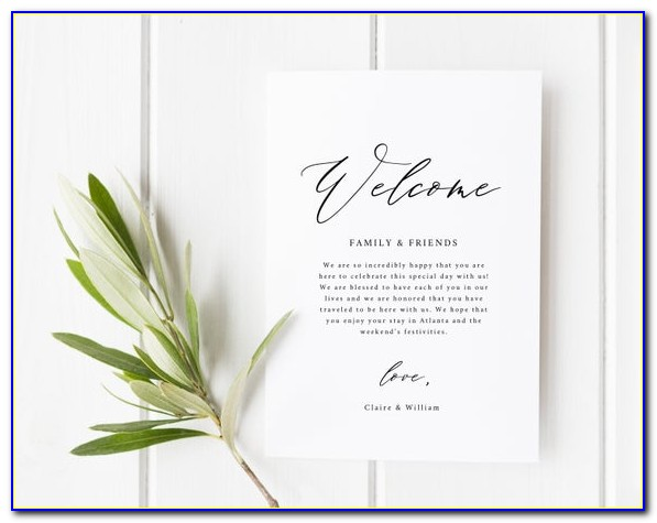 Baby Welcome Card Template