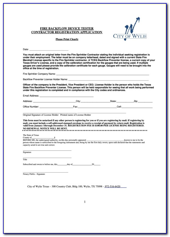 Backflow Testing Certification Texas