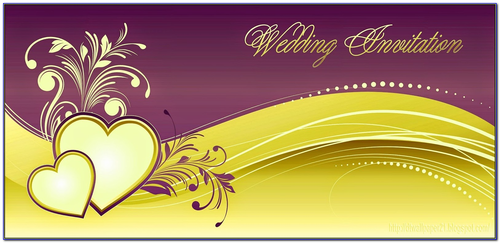 Background Marriage Invitation Card