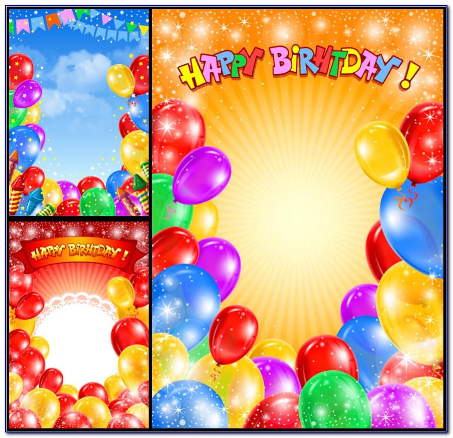 Balloon Invitation Cards