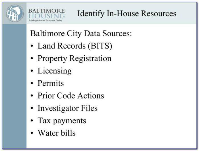 Baltimore City Lien Certificate Department