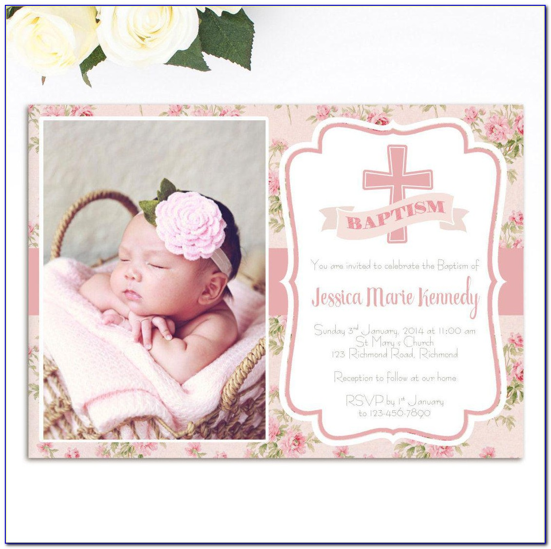 Baptism Card Template For Word