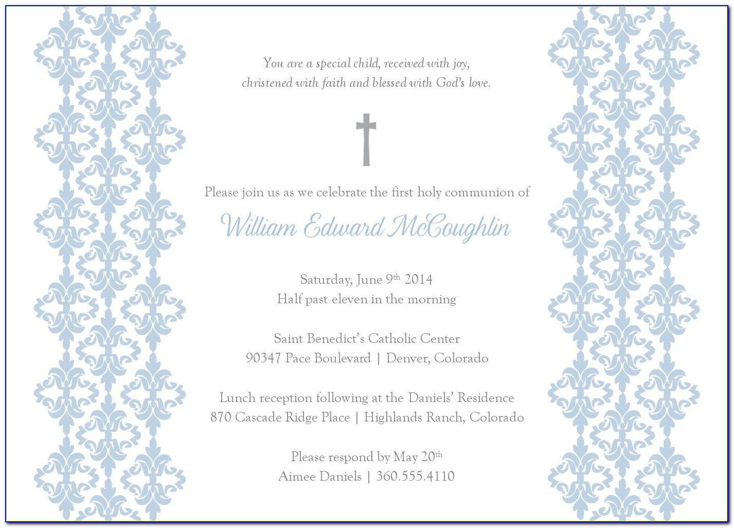 Baptism Congratulations Card Template