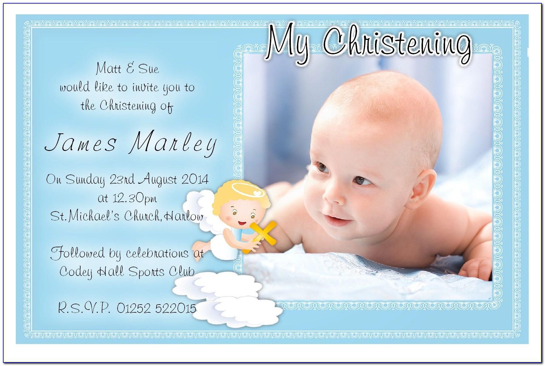Baptism Prayer Card Template