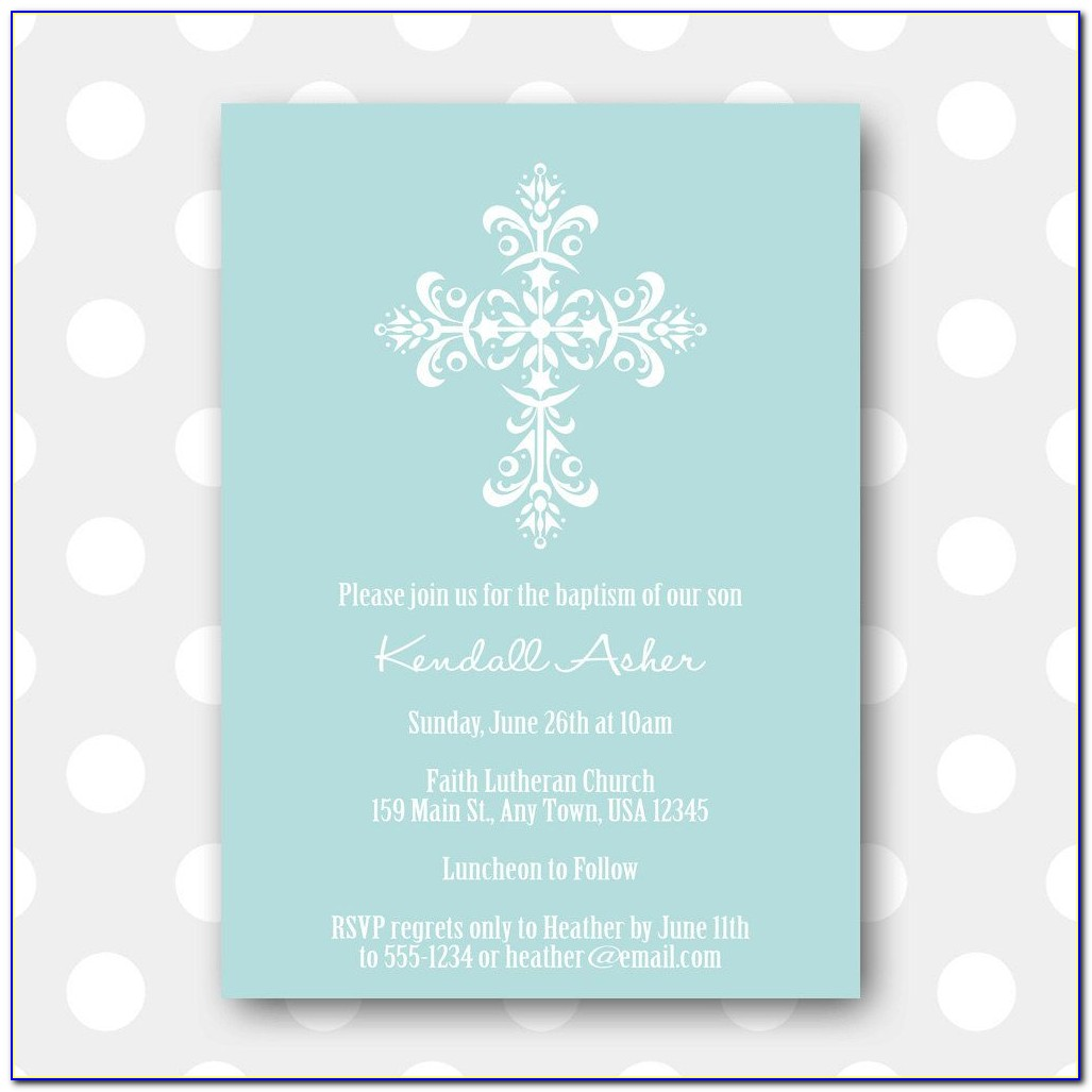 Baptism Thank You Card Template Free Download