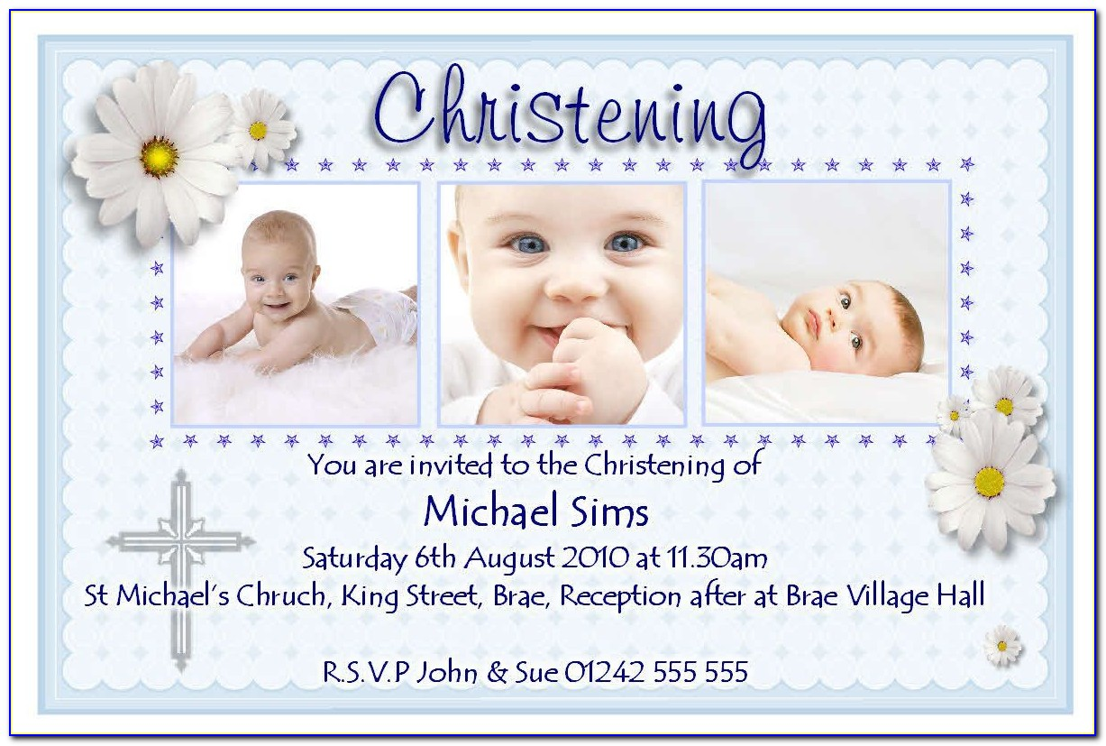 Baptism Thank You Card Template Free