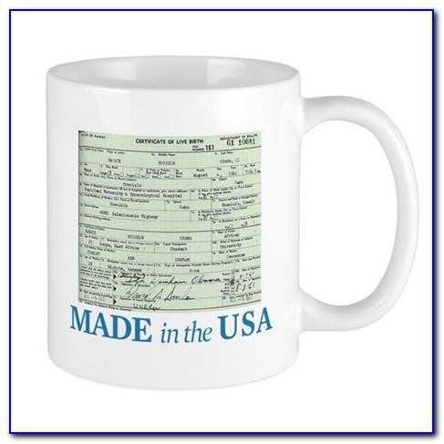 Barack Obama Birth Certificate Mug