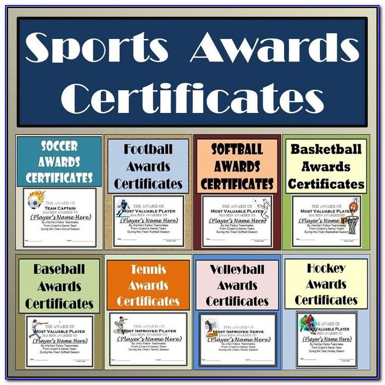 Basketball Team Award Certificates