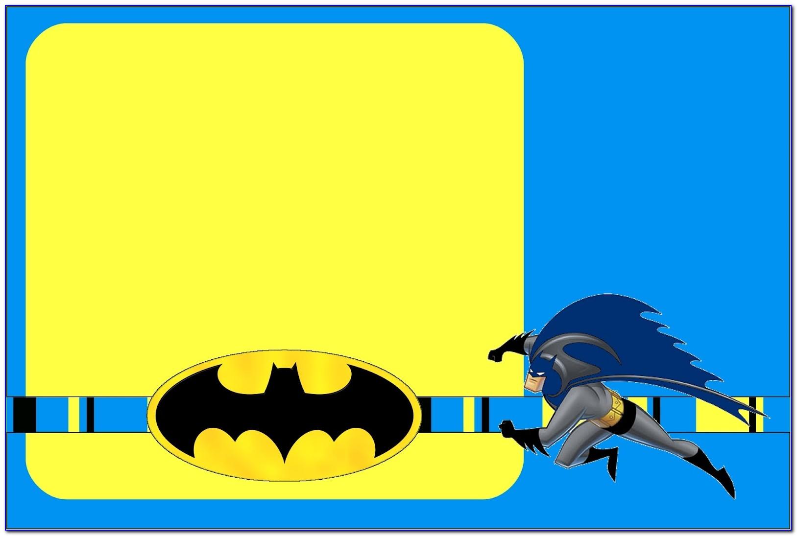 Batman Birthday Invitation Cards