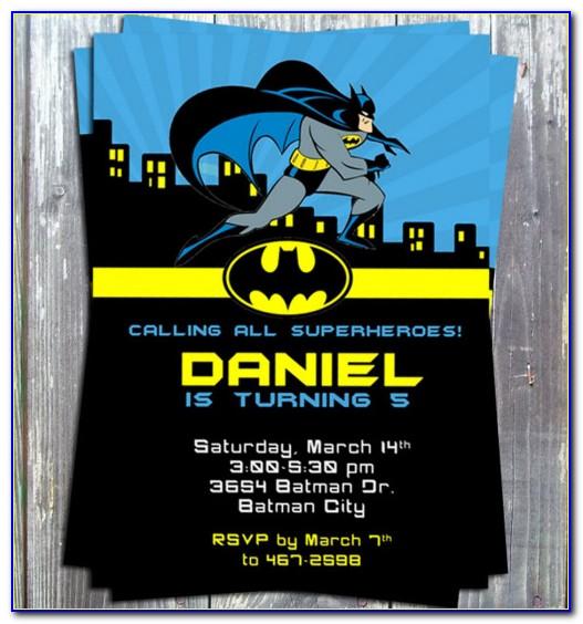 Batman Invitation Card Maker