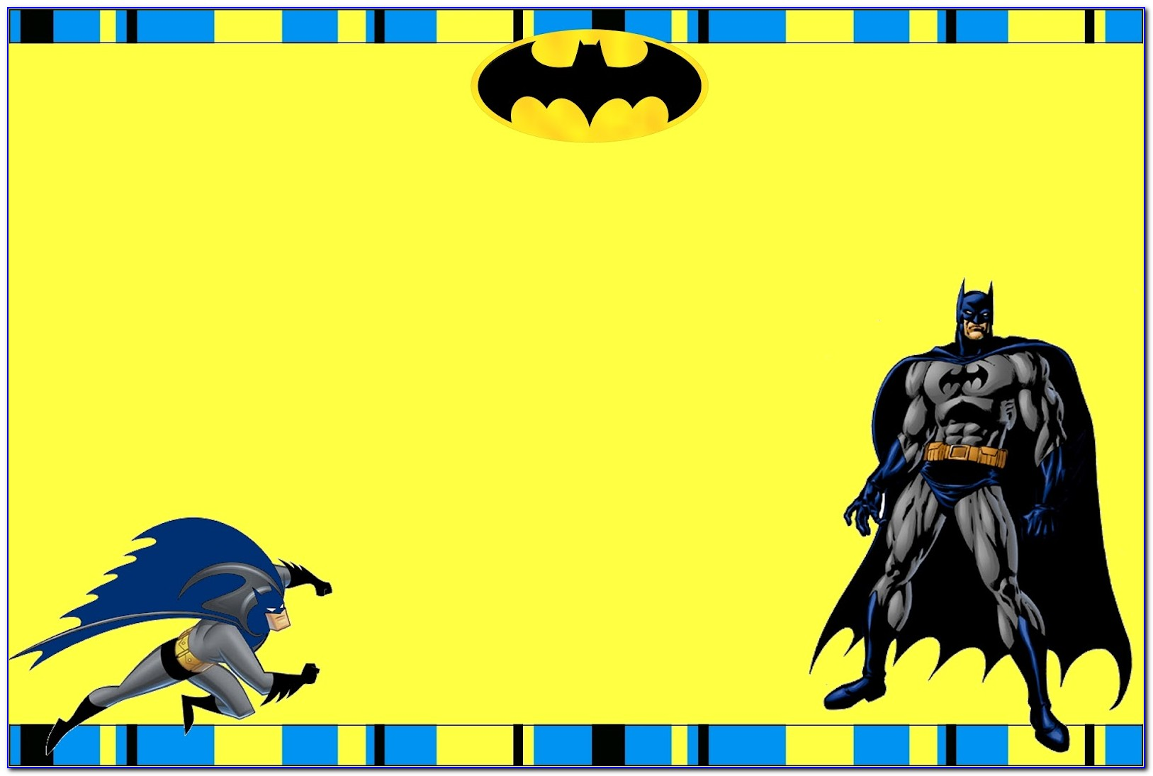 Batman Invitation Card Template