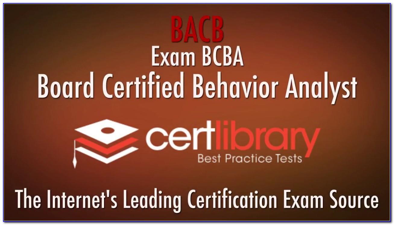 Bcba Certification Online