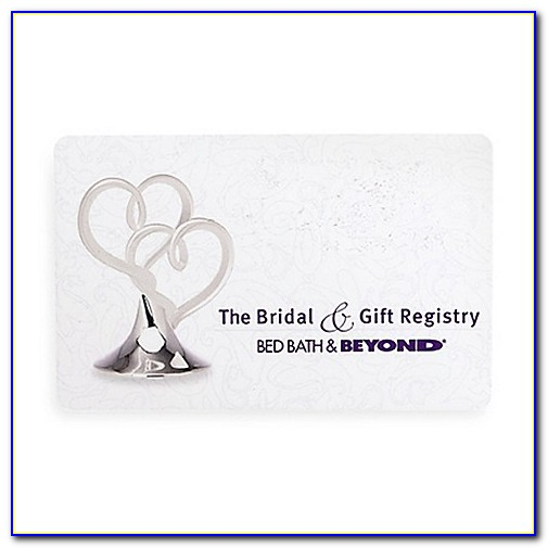 Bed Bath And Beyond Wedding Registry Cards