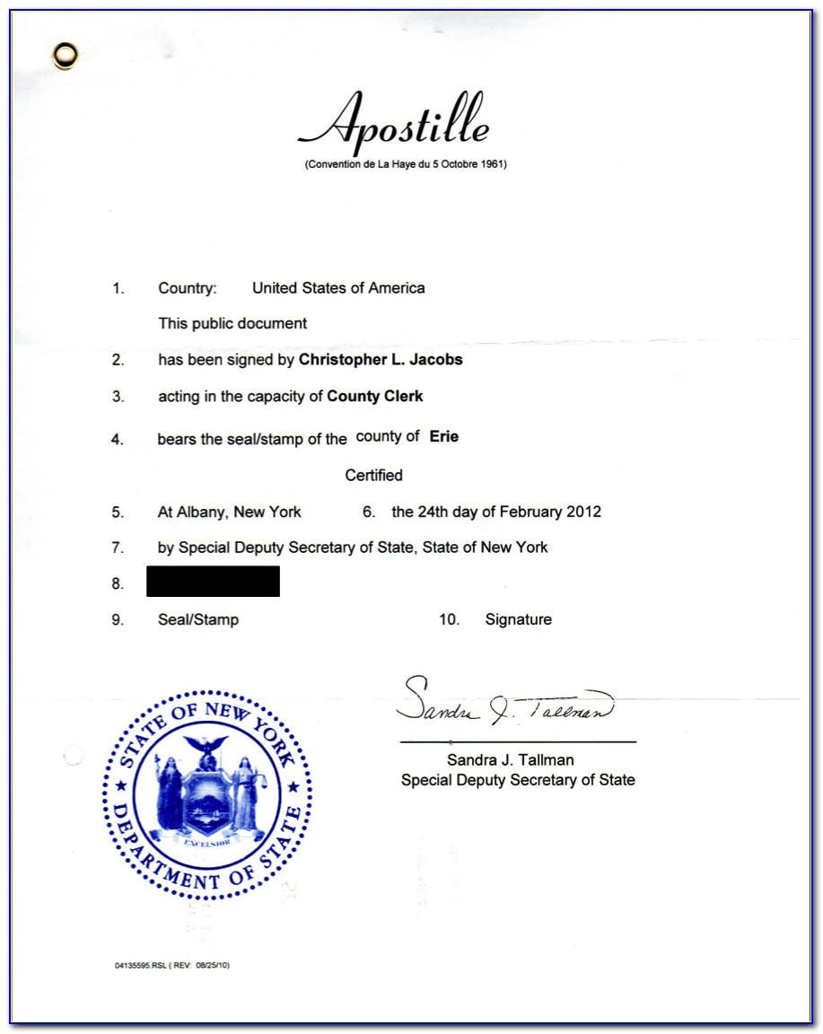 Birth Certificate Apostille Nyc