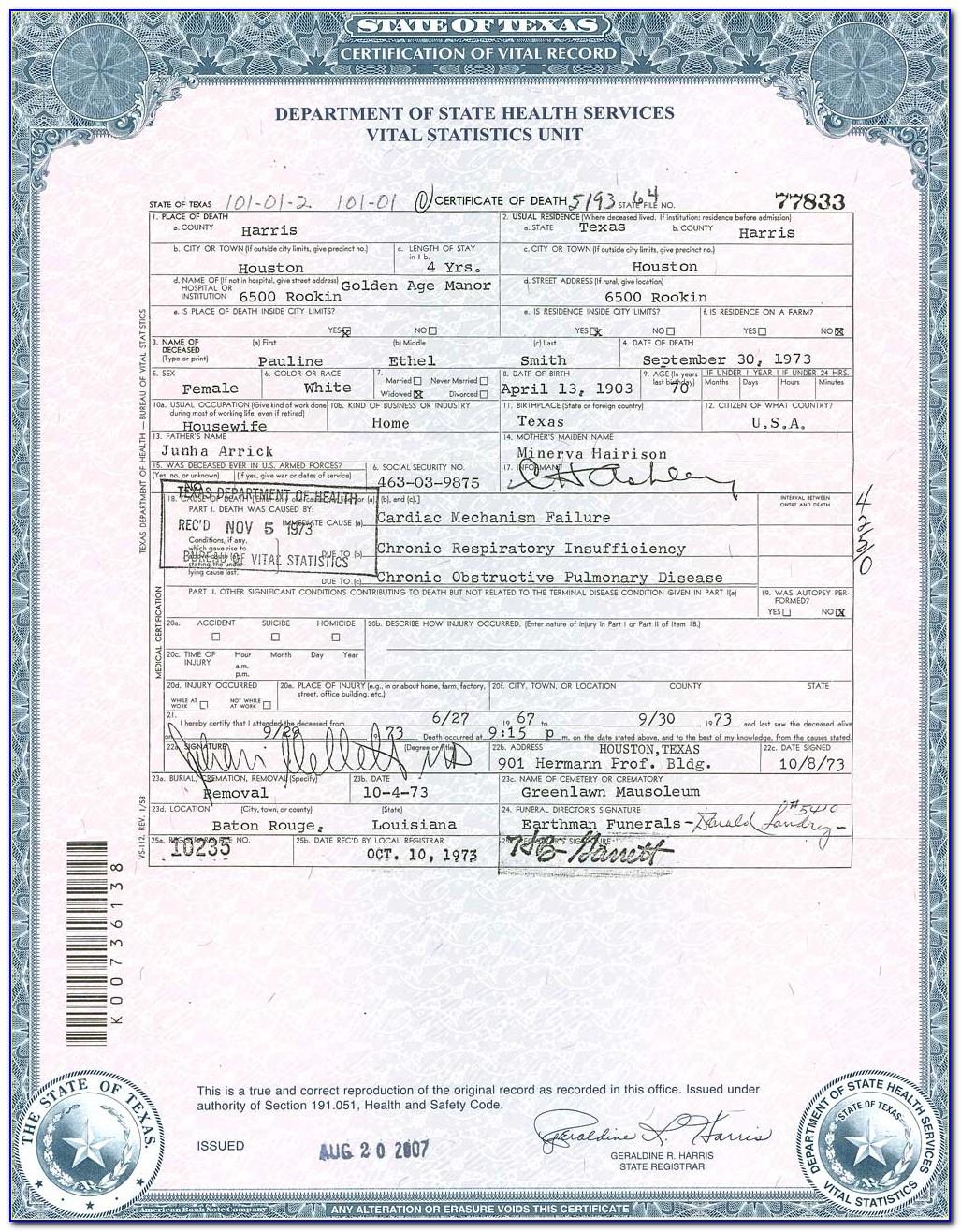 Birth Certificate Baton Rouge La