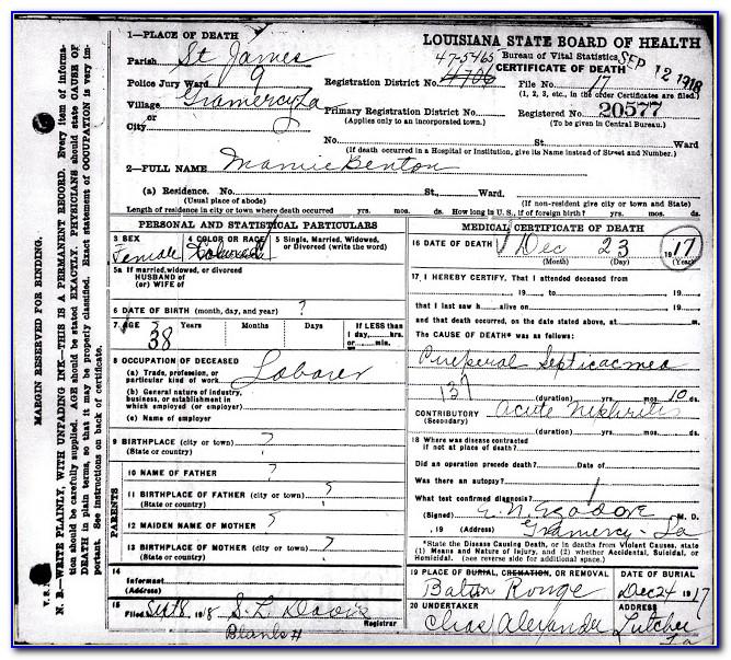 Birth Certificate Baton Rouge Louisiana