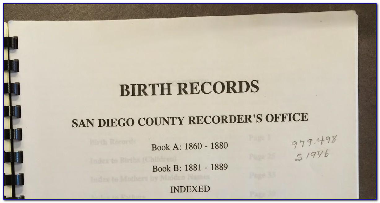 Birth Certificate Chula Vista