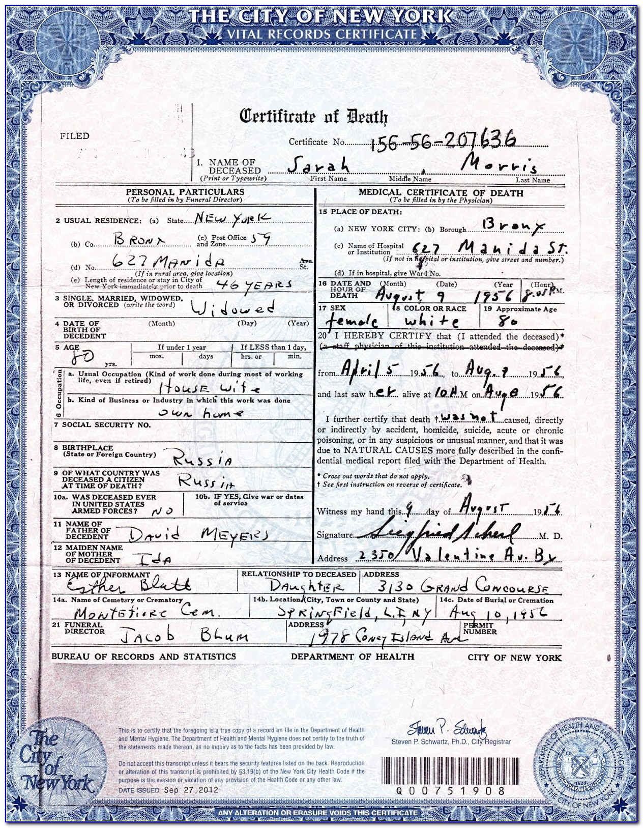 Birth Certificate Correction Nyc Office