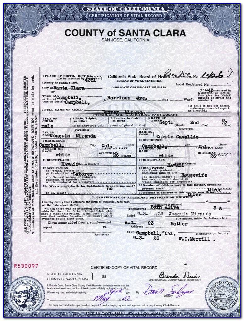 Birth Certificate Denver Office