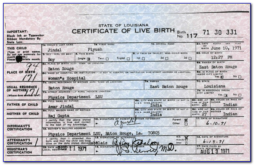 Birth Certificate Office Baton Rouge Louisiana