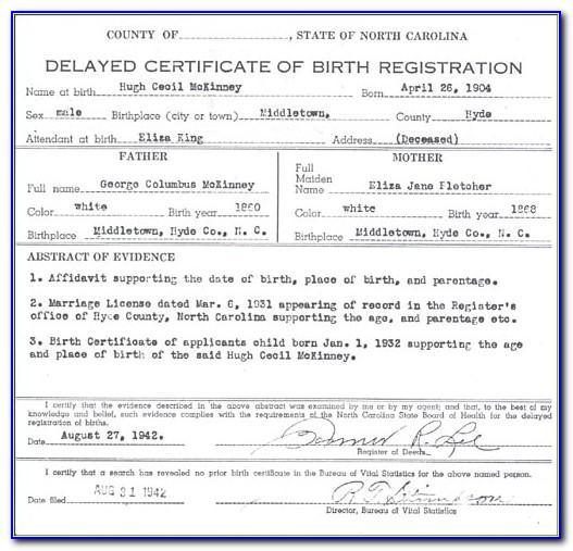 Birth Certificate Registration Raleigh Nc