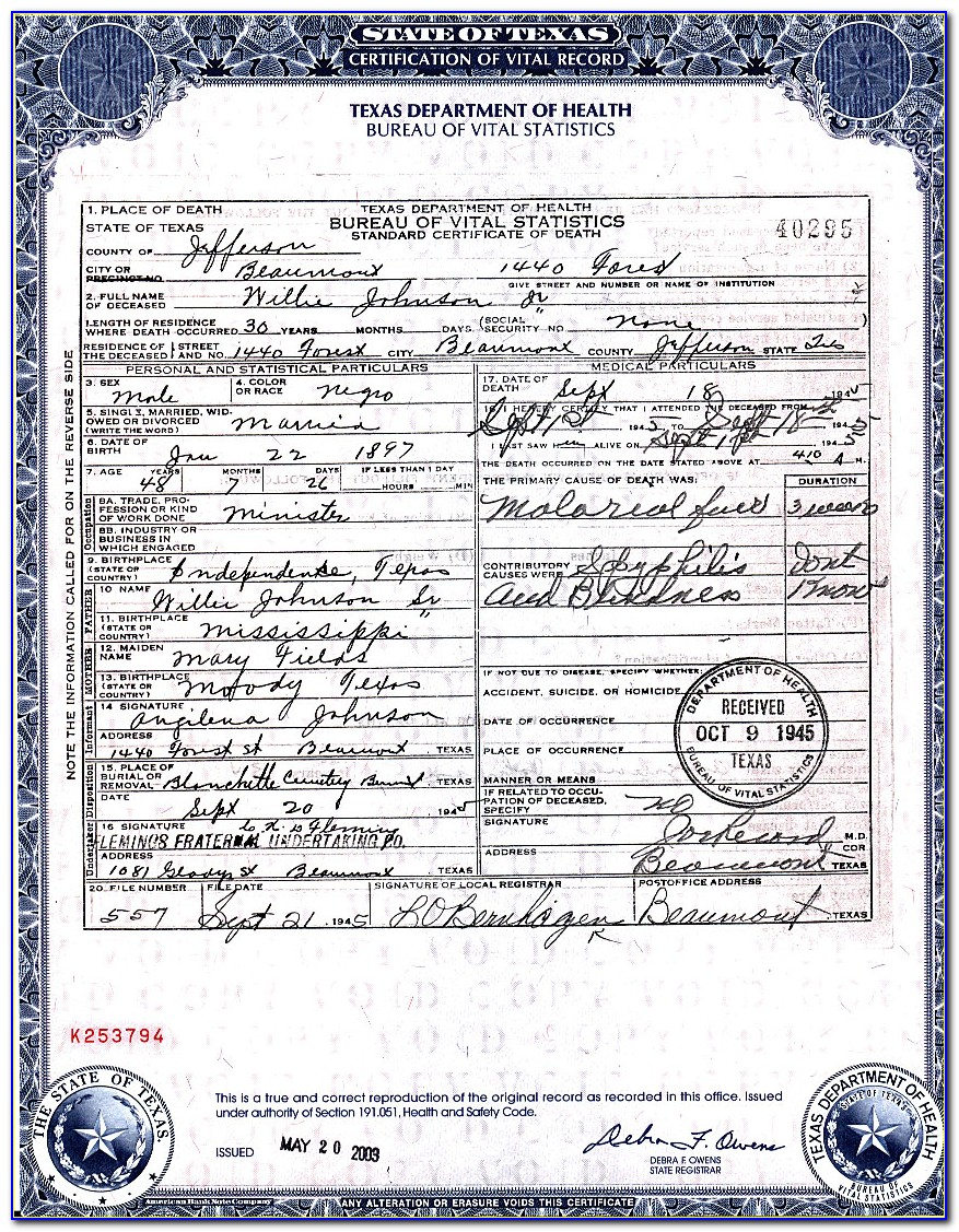 Birth Certificate Replacement Beaumont Tx