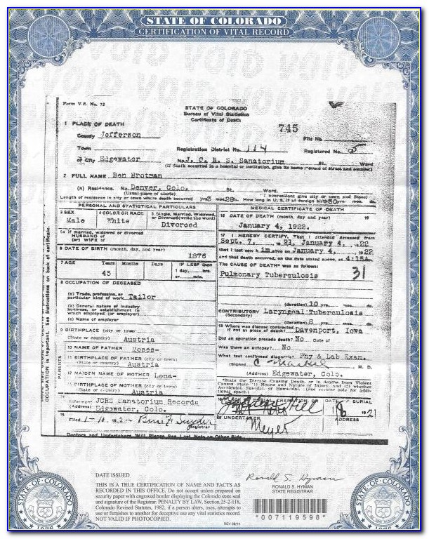 Birth Certificate Replacement Cedar Rapids Iowa