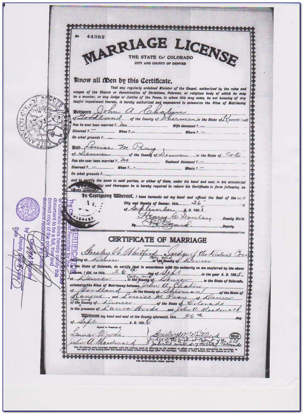 Birth Certificate Replacement Denver Colorado