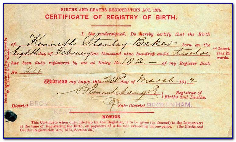 Birth Certificate Replacement Ogden Utah
