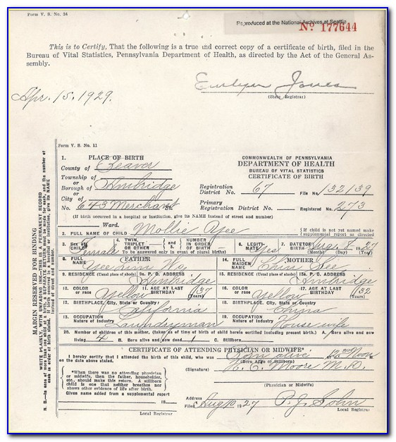 Birth Certificate Replacement Seattle