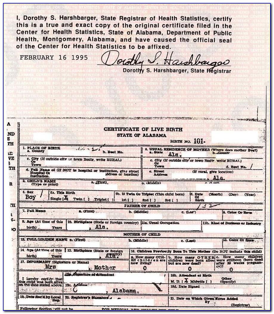 Birth Certificate Replacement Sulphur Louisiana