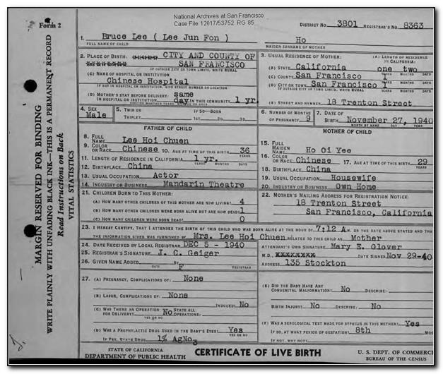 Birth Certificate Seattle Address