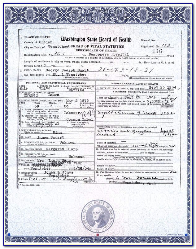 Birth Certificate Seattle Office