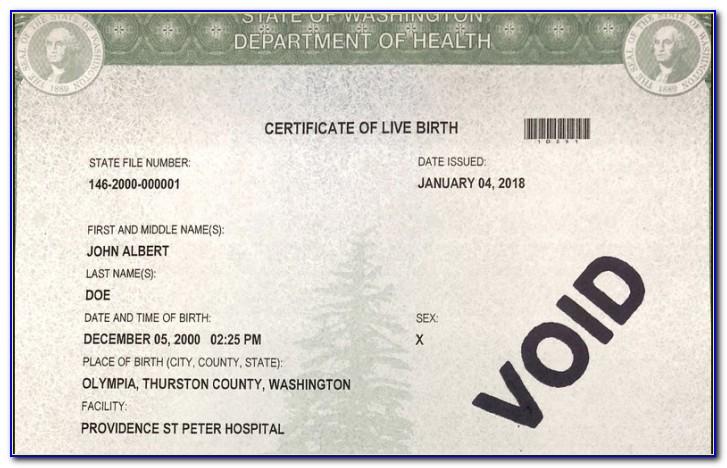 Birth Certificate Seattle Wa