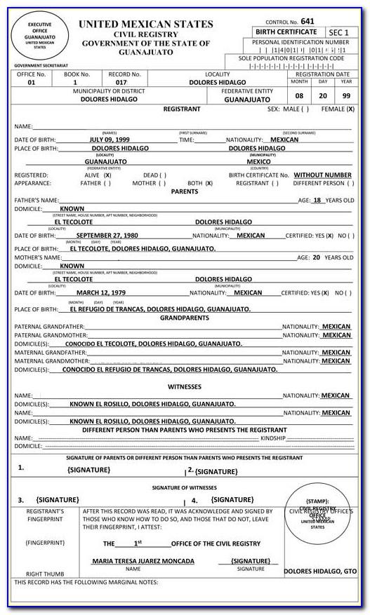 Birth Certificate Translate Uscis