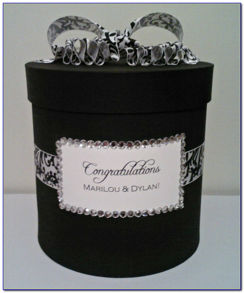 Black And White Diy Wedding Card Box