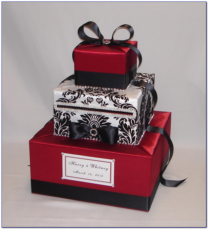 Black And White Wedding Card Box